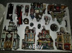 01 Grandeur Noel Collectors Edition 42 Piece Train Village Christmas Set in Box