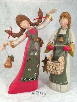13 Eight Maids of Milking Mantle Piece Figurine 12 Days of Xmas House of Hatten
