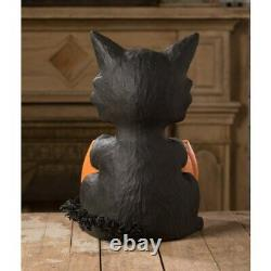 16 Bethany Lowe Lrg Black Pumpkin Bowl Cat Retro Vntg Halloween Decor Figure
