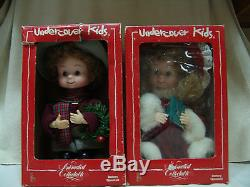 1993 Original Christmas Undercover Kids Animated Collection Boy & Girl Free Ship