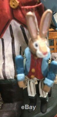 1995 HOUSE OF HATTEN RABBIT BUNNY EASTER 21 Tall HOME DECOR