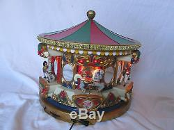 1995 SPECIAL EDITION Mr Christmas Musical Merry Go Round Animated Light 42 Songs