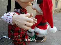1996 Santa's Best Mickey Unlimited Mickey Mouse & Animated Goofy Christmas Telco