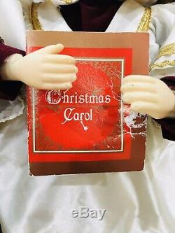 1997 Alco Lot of 4 Animated 18 Caroling Choir Singers Girl Boy Red Green Halo