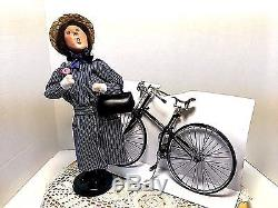 1998 Byers Choice'Miss Norma Munsey Visiting Nurse with Bicycle