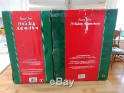 2 Snow Baby Animated-Motion-ette by SANTA's BEST snowbabies N BOXS tested video