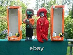 2 Telco Halloween Motionette Beast Man & Phantom of the Opera Original Box
