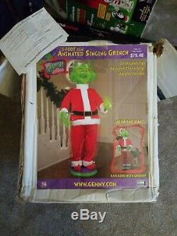 2004 Gemmy Dr. Seuss The Grinch Animated Dancing Life Size 5' & Wireless Mic