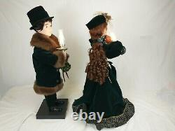 26 TRADITIONS ANIMATED VICTORIAN COUPLE Christmas Animated Moving Figures