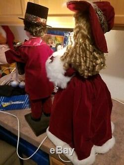 27 Inch Animated Boy And Girl Vintage Christmas with extra lights