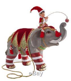 28-628118 Katherine's Collection 17 Circus Elephant Christmas Elf Ringmaster