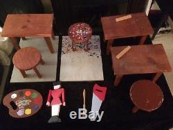 4 David Hamberger Display Elf Telco motionette Animated Animatronic Display Set