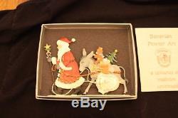 4 Wilhelm Schweizer Zinnfiguren Hand Painted Standing Christmas Ornaments