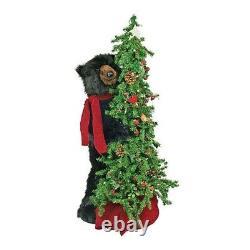 40 Ditz Design (Hen House) Black Bear Berry Christmas Tree Figurine Display