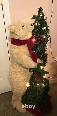 40 Tall Joyce Ditz Design Christmas Bear Lighted Tree Designer Hen House