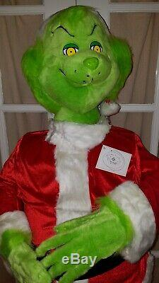 5 FOOT Christmas GRINCH ANIMATED NIB SUPER RARE 2004 Gemmy