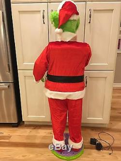 5 foot GRINCH SINGING ANIMATED Christmas decoration LIFE SIZE Gemmy