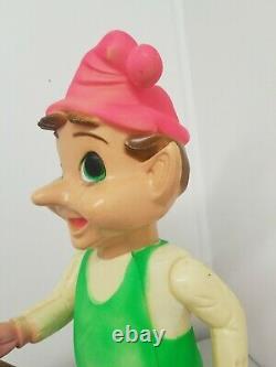 50s-60s Vintage 22 Union Blow Mold Hard Plastic Jointed CHRISTMAS ELF Light