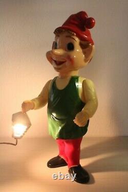 50s-60s Vintage 22 Union Blow Mold Hard Plastic Jointed Christmas ELF Lantern