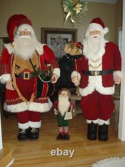 6 ft. Life Size Deluxe Santa Claus withBurlap Sack of Toys and animated/moving Elf