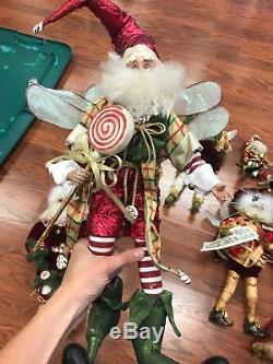 6 large & 2 small Mark Roberts Christmas Fairies