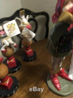 9 Pc Of Rare House Of Hatten 12 Day Christmas Figures