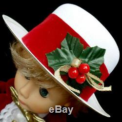 ANIMATED CHRISTMAS FIGURE / BOY with TOP HAT / MATRIX / VINTAGE 1993