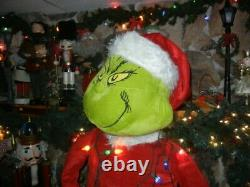 ANIMATED LIFE SIZE GRINCH in TANGLED LIGHTS SINGING CHRISTMAS PROP / DISPLAY
