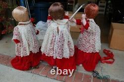 ANIMATED MECHANICAL 3 Choir Children plus Boy and Girl CHRISTMAS STORE DISPLAY
