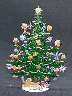 ARTIST WILHELM SCHWEIZER GERMAN ZINNFIGUREN Decorated Christmas Tree (4.5x6)