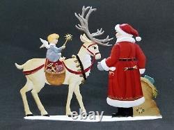 ARTIST WILHELM SCHWEIZER GERMAN ZINNFIGUREN Feeding Time with Santa (5.5x 4)