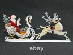 ARTIST WILHELM SCHWEIZER GERMAN ZINNFIGUREN Santa in Sleigh (6.25x 2.75)