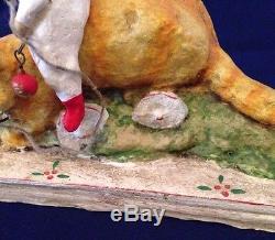 Americana Folk Artist Debbee Thibault Kitty Pull Toy Ltd. Ed. 99/2500