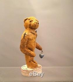 Americana Folk Artist Debbee Thibault Tattered Teddy Ltd. Ed. 87/2500