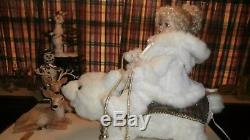 Animated Christmas Girl Riding Polar Bear Santas Best