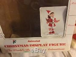 Animated Christmas Telco Elfette Elf Pixie Girl Baker WithBox Cookbook Spoon