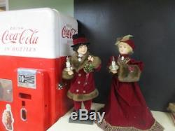 Animated Christmas Victorian Lady & Man Couple 26 Tall 1994 Vgc Motionette