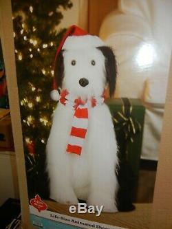 Animated Life Size 3 Foot Tall Sheepdog Singing / Talking Dog Christmas