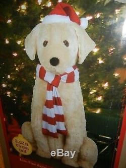 Animated Life Size Lab. Golden Retriever Talking Dog Christmas