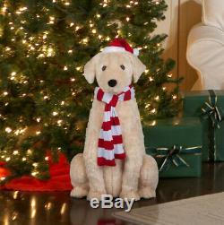 Animated Life Size Lab. Golden Retriever Talking Dog Christmas Decor