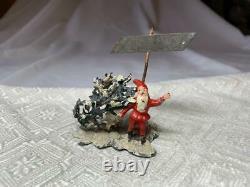 Antique Gnome Elf Christmas Tree Germany Metal Putz Heyde Miniature Rare c1900