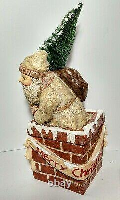 Antique Large German Santa In Chimney Candy Container Early Christmas Toy