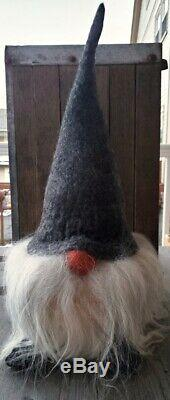Asas Tomtebod Christmas Gnome Verner 19 Tall Gray Hat Made in Sweden New