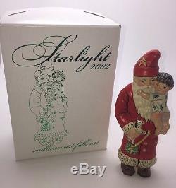 Bnib Vaillancourt Chalkware Signed Starlight 2002 Santa