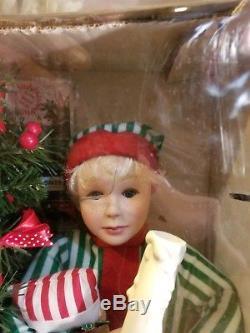 BRAND NEW! MINT! Animated Boy/Girl Christmas Figures Doll With Tree-RARE