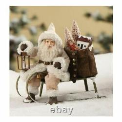 Bethany Lowe Christmas Woodland Santa on Sled Toys TD7679 Free Shipping
