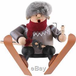 Brand New Kwo Erzgebirge German Incense Smoker Skier