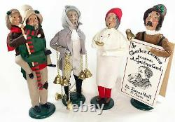 Byers Choice Carolers A Christmas Carol Dickens Lot of 4 Tiny Tim Marley's Ghost
