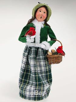 Byers Choice Christmas Cardinal Family Of Five 5 Piece Set