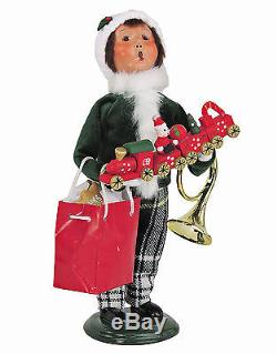 Byers Choice Christmas Shopping Family Set Of Four Tartan Plaid